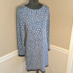 Michael Kors Long Sleeve Stretch Navy Dress Size M